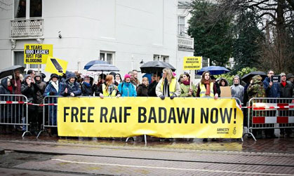 Raif Badawi Demonstration