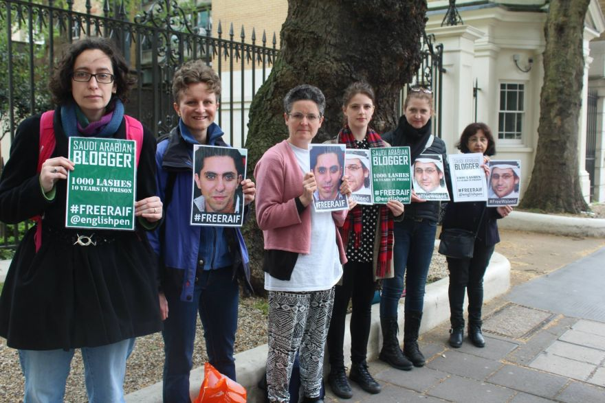 Pledge to protest for Raif Badawi