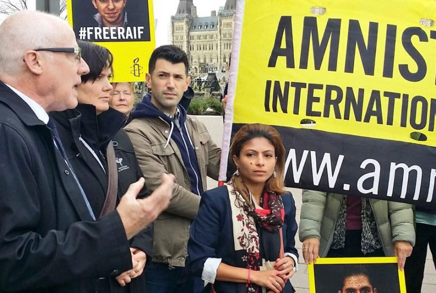 Raif Badawi's Supporters Met By Closed Doors At Saudi Embassy