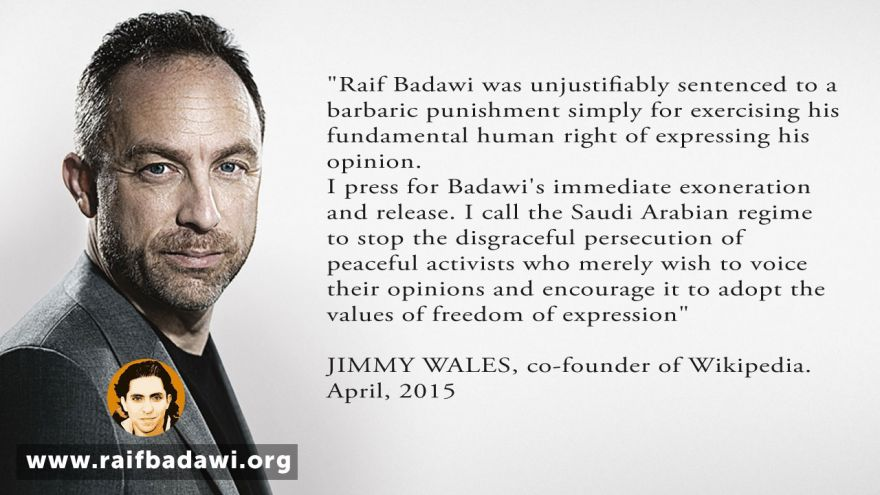 Jimmy Wales on Raif Badawi