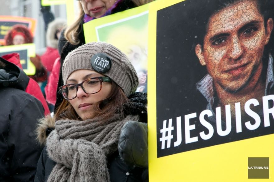 Raif Badawi's wife takes fight for Saudi blogger's release to Washington DC
