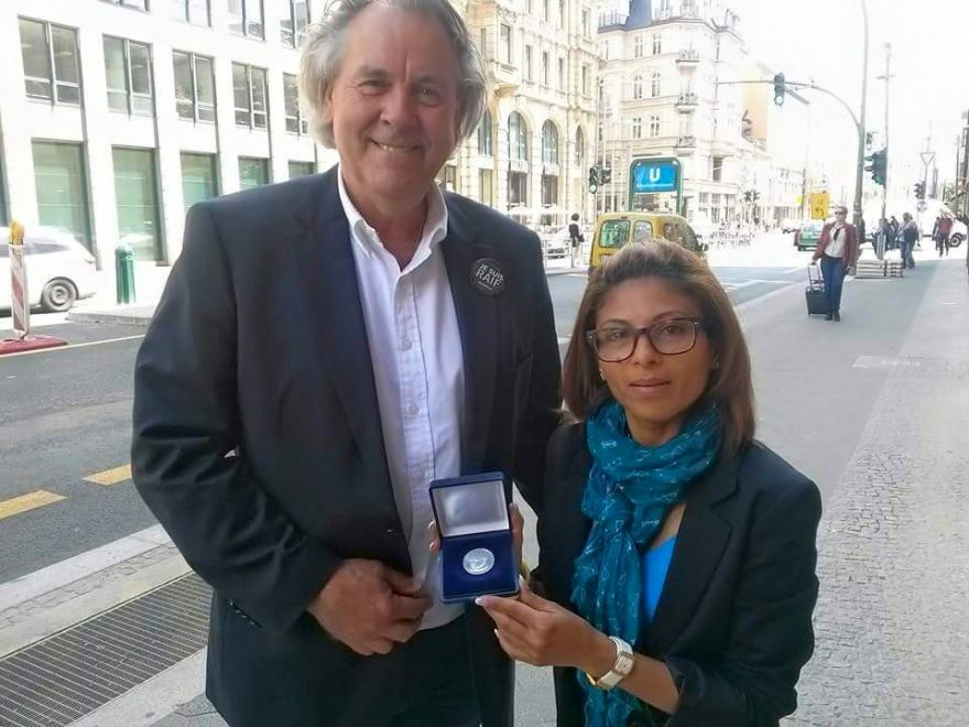 Thomas Dehler Medal Awarded to Raif Badawi